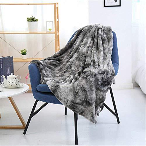 MMHJS Graue Flauschige Decke Wohnzimmer Plüschdecke Weiche Warme Decke Faltbar In Eine Sofadecke Oder Babydecke