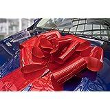 Kenley 23インチ大型赤マグネット式自動車用蝶リボン飾り。56インチのリボン紐付き。巨大なビックリ 大変な驚き 結婚式、誕生日、クリスマスプレゼント、特大のプレゼント用装飾。磁石、サクションカップ取り付け。