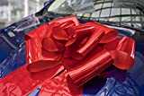 Giant Red Bow for Car - 23 Inches Large Red Car Bow Surprise Decoration Wrap for Wedding, Birthday, Graduation, Sweet 16 - Attaches with Magnets and Suction Cup