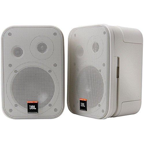 JBL C1PRO-WH - Altavoces de 2 vías (150W, 100 Hz - 18 KHz, 108 dB), color blanco