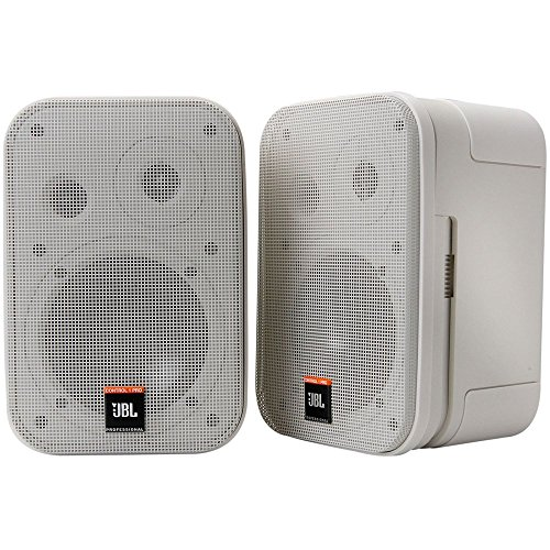 JBL Control 1 Miniatur-Lautsprecher, Pro High Performance, 150-Watt, Studio-Monitor weiß