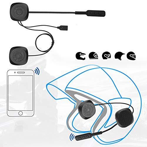 Jinyi Auriculares para Casco, Respuesta automática/Manual Auriculares para Casco Bluetooth con Cable de Datos para Motocicleta para Motocicleta