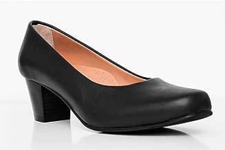 % 100 Leather Black Flight Attendant Shoes