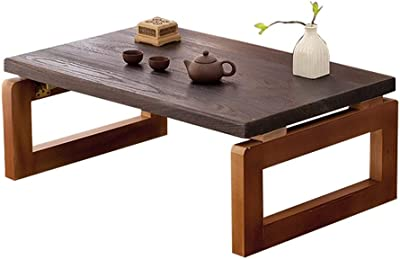 Coffee Tables Coffee Table Japanese Style Table Solid Wood Folding Table Home Bay Window Table Bed Coffee Table Tatami Table (Color : Walnut, Size : 60 * 40 * 30cm)