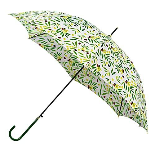 【和柄・超軽量】Anntrue 傘 レディース 日傘 おしゃれ 超軽量 長傘 和風 210T 超撥水 ジャンプ グラスファイバー 雨傘 晴雨兼用 通勤通学 旅行(オリーブ)