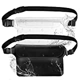 HeySplash Waterproof Pouch Bag with Waist Strap 2 Pack, Screen Touchable Dry Bag
