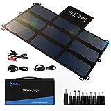 BigBlue 63W Portable Solar Charger with Waterproof SunPower Solar Panel(Dual 5V USB+19V DC Output+USB-C Port), Foldable Solar...