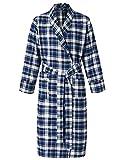 Latuza Women's Cotton Flannel Robe XL Red & Navy