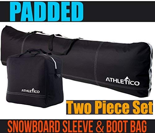 Athletico Padded, Snowboard Boot, Two-Piece, Bag Combo, Snowboard
