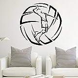 wZUN Jugador de Voleibol Pegatina de Pared Gimnasio decoración de habitación Juvenil Pelota Deportes Vinilo Pared de Sala de Estar 50X34cm