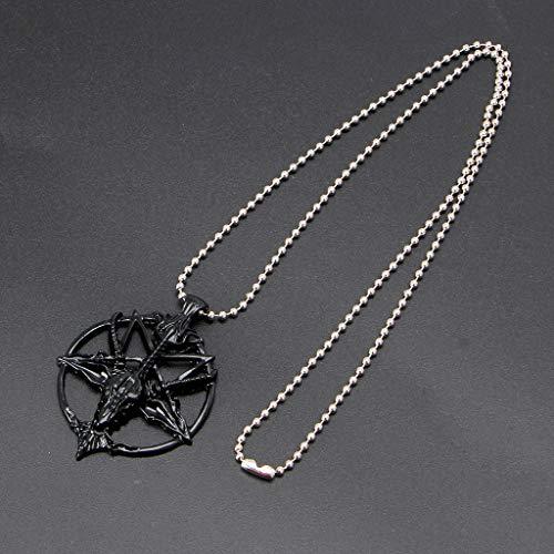 SOLEIWEI Pentagrama Sabbatic Cabra Cabeza Colgante Collares