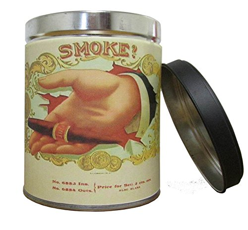Our Own Candle Company Smoke Eliminator Scented Candle in 13 Ounce Tin with a Vintage Cigar Hand Label