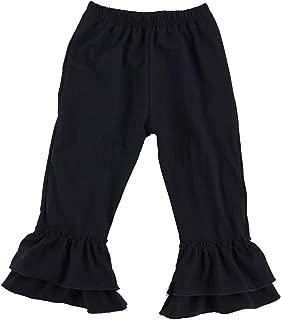 Children's Little Girls Ruffle Soft Cotton Flare Pants