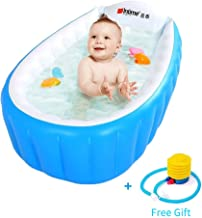 INTIME PVC Portable Inflatable Bathtub for Kids (Blue)