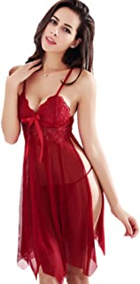 Ladies Sexy Lingerie Dress Sexy for Women Lingeries Set Nightwear One Piece Lace Dresses Sleepwear Strap Babydoll V Neck u...