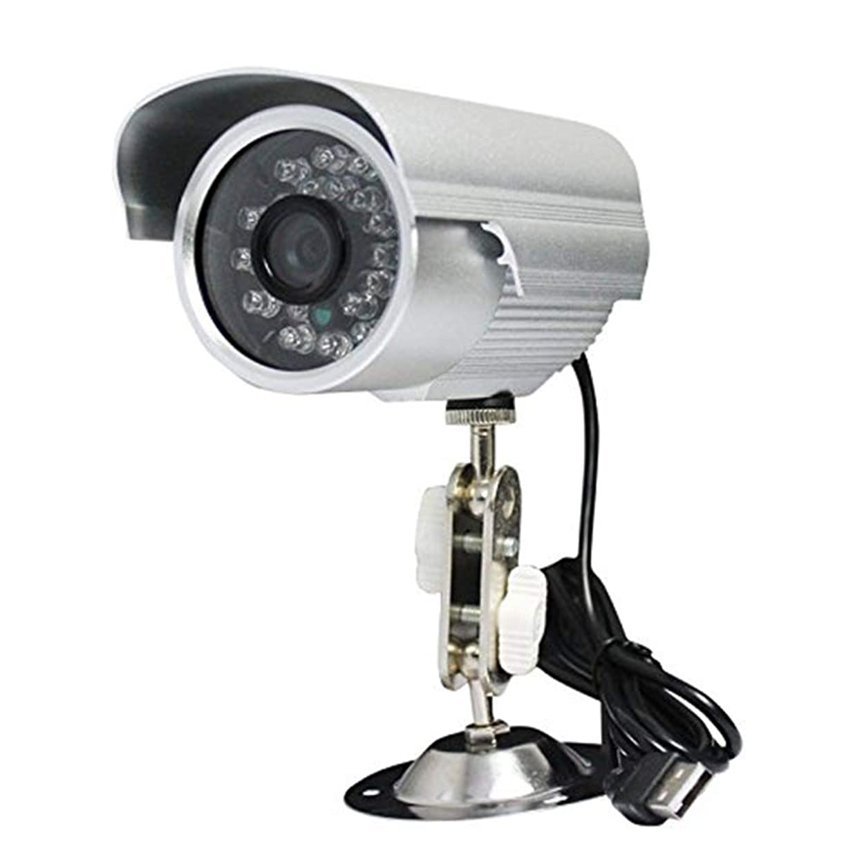 気難しいクレーター独立して防犯カメラ マイクロsdカード録画 屋外用 USB給電 監視カメラ 赤外線付き PC監視 暗視 防犯 セキュリティ かんたん設置