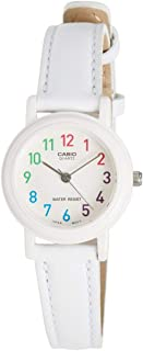 Casio Ladies Girls Women's Classic White Dial Blue Leather Band Watch [LQ-139L-7B] Water resistant