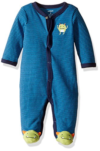 Carter's Baby Boys' Striped Footie (Baby) - Monster - 3 Months
