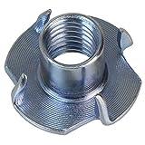 ALPIDEX 100 T Dado a 4 Punte Acciaio zincato M10 x 13 mm per Prese Arrampicata...