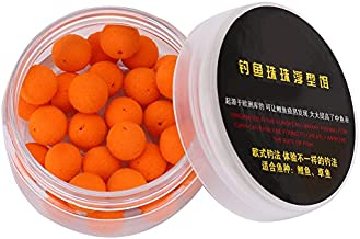 Keenso Carp Fishing Lure, 30Pcs/Box 10/12mm Smell Carp Fishing Bait Boilies Soft Bait Boilies Fishing Bait Artificial Floating Ball Beads Feeder(Orange 10mm)