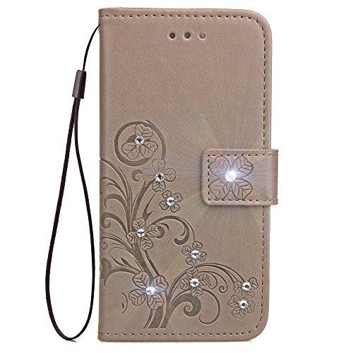 Tosim Huawei/Google Nexus 6P Hülle Klappbar Leder, Brieftasche Handyhülle Klapphülle mit Kartenhalter Stossfest Lederhülle für Huawei Nexus 6P - TOSDA080974 Grau