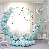 Globos de látex con guirnalda, 176 unidades, globos, macaron, globos, set para niñas, cumpleaños, bebé, ducha, bailarina, fiesta, boda, decoración, rosa/azul/amarillo/verde, Azul