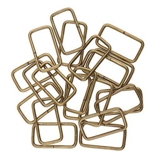 FITYLE 20x Anillo de Correa de Conector de Correa de Bolsa de Hebilla Cuadrada de Metal para la creación de Bolso DIY