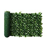 FLORALEAF Artificial Faux Ivy Privacy Fence Screen Hedges Trellis Leaves Panels with Mesh