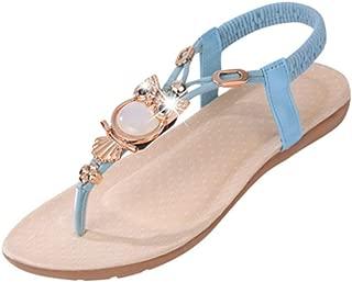 Inlefen Women's Sandals Comfortable Elegant Sandals Rhinestone Owl Sweet Sandals