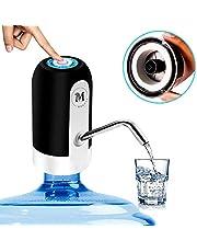 Moguat Waterdispenser voor jerrycan met adapter, elektrisch, automatisch, afneembaar, oplaadbaar, USB-flessen, koud en warm water, waterpomp