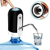 Moguat Dispensador Agua para Garrafas con Adaptador, Dosificador Eléctrico Automático Extraíble Recargable USB Botellas Agua Fria y Caliente, Bomba de Agua