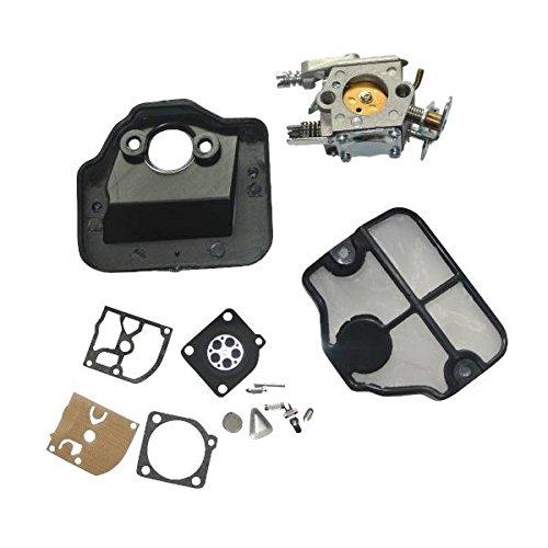 Filtro de aire del carburador de diafragma de juntas Kit Para HUSQVARNA 36 41 136 137 141 142