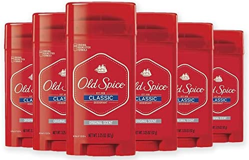 Old Spice Classic Deodorant Stick, Original 3.25 oz (Pack of 6)