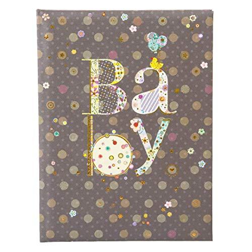 Goldbuch Babytagebuch, Romantic, 21 x 28 cm, 44 illustrierte Seiten, Kunstdruck mit Goldprägung und Relief, Schwarz, 11447
