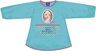 PERLETTI Delantal Infantil Disney Frozen - - Bata Escolar Niña Impermeable con Bolsillo Mangas – para Mantener la Ropa Limpia Seca - Estampado Elsa Lunares Dots - 3-5 Años (Aguamarina, 3/4 Años)