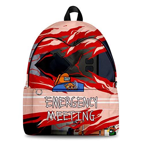 Queenromen Rucksack für Kinder, 3D, digital, für Studenten, Schulranzen Gr. One size, Black-j