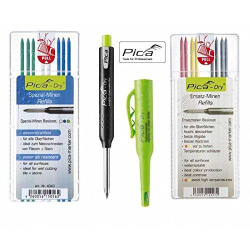 Pica-Dry Longlife Automatic Pen inkl. Ersatz- u. Spezialminen Basis-Set