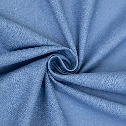 Algodón lino azul – Precio por 0,5 metros