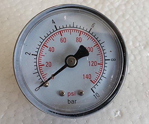Manometer Druckanzeige für Hauswasserwerk mit 1/4 Zoll AG - 0 bis 10 BAR Anzeige