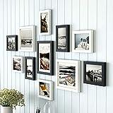 ZYX@ED Holz-Bilderrahmen-Set zur Wandmontage Home Mall-Bilderrahmen Wand + kombinierte Bilderrahmen + für Flur Wohnzimmer-Set von 11, Holz-Multi-Bilderrahmen-Set / Style3