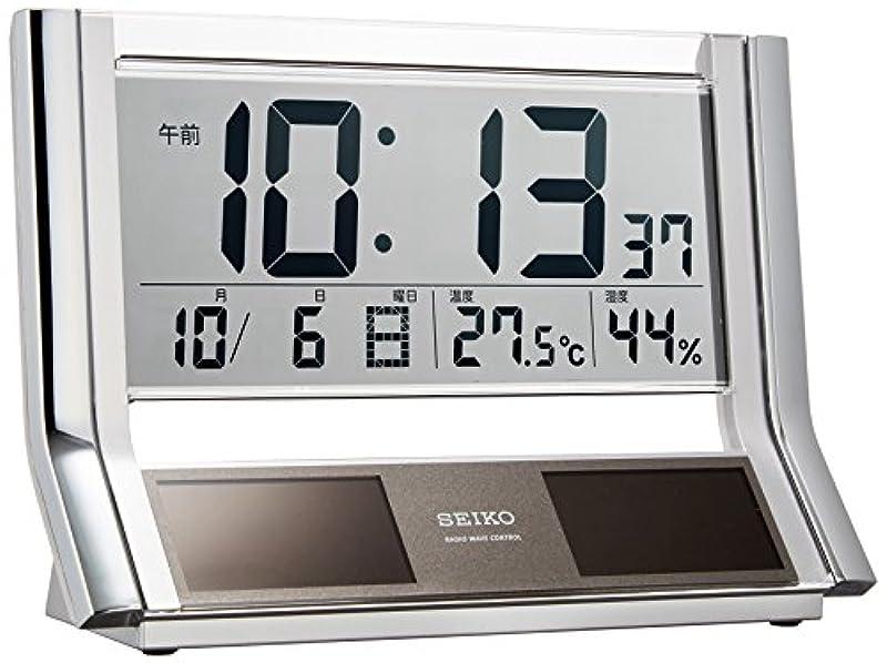 세이코 탁상 시계 하이브리드 디지털 메탈릭 SQ690S
