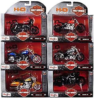 Harley Davidson Motorcycle 6 Piece Set Series 36 1/18 Diecast Models by Maisto 31360-36