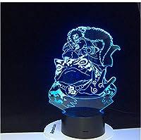 3Dナイトライトフルメタル錬金術師3Dナイトライトノベルティキッズは子供のためのナイトライトを導きました寝室の装飾USBバッテリー駆動の誕生日プレゼント