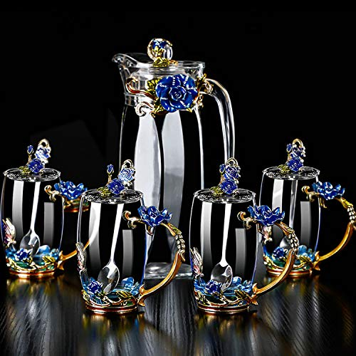 Crystal Glass 3D Butterfly Flower Tea Cups