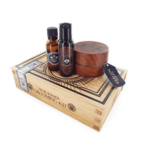 Dear Barber Men's Style & Go Collection Mattifier Gift Set, Mattifier 100ml Shampoo 50ml & Mens Fragrance 30ml