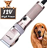 Hansprou Dog Shaver Clippers High Power Dog Clipper Low Noise Plug-in Pet Trimmer Pet Professional Grooming Clippers with Guard Combs Brush for Dogs Cats and Other Animal