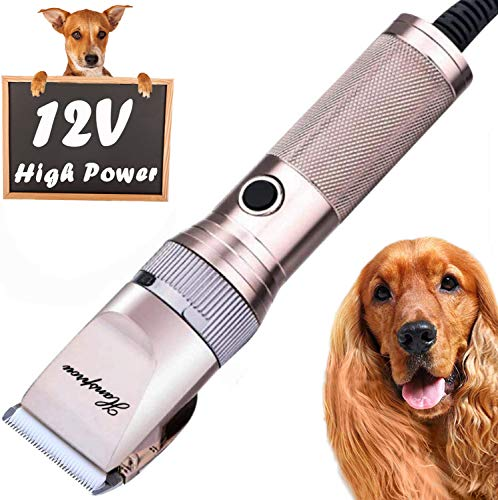 HANSPROU Dog Shaver Clippers High Power Dog Clipper Low Noise Plug-in Pet Trimmer Pet Professional...
