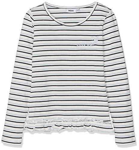 Mexx Mexx Mädchen T-Shirt, Mehrfarbig (Marshmallow/Cashmere Blue/Sky Captain 318161), 116 (Herstellergröße: 110-116)