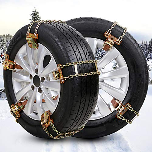 BESTWELL4U Snow Chains,Tire Chains for Truck,SUV of Tire Width 205-275mm/8-10.8 inch,Upgraded,Thickend,Adjustable (8 Pack)
