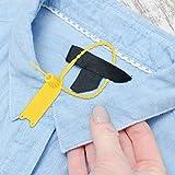 Aukson Etiquetas de Bridas para Cables, Hechas de excelente Material PP, antienvejecimiento, Resistentes al ácido y al frío, aplicadas a logística, supermercados, Transporte aéreo, etc.(Yellow)